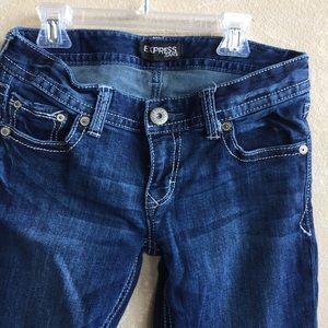 Size 2 women's Express boot cut  denim Jeans NICE